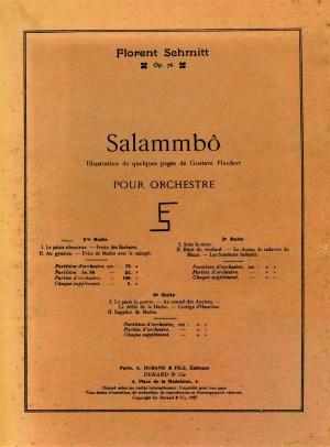 Florent Schmit Salammbo score cover Durand