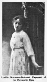 Lucile Wurmser-Delcourt Musical America 1920