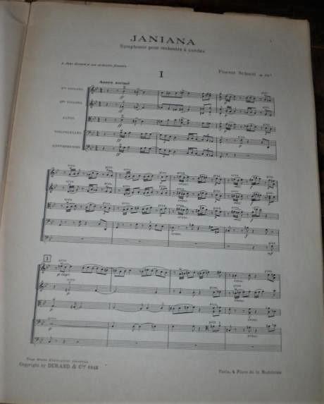 Florent Schmitt Janiana Symphony score page