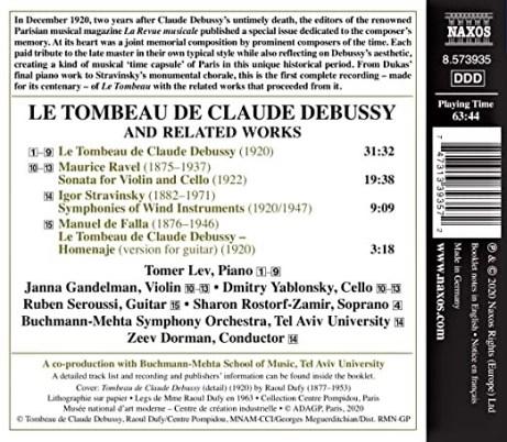 Le Tombeau de Claude Debussy track listing NAXOS
