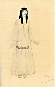 Claopatre costume Dresa 1920