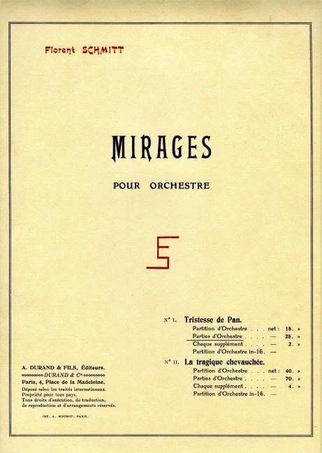 Florent Schmitt Mirages score cover