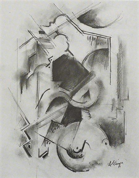 Albert Gleizes Portrait de Florent Schmitt La Pianiste 1914-15