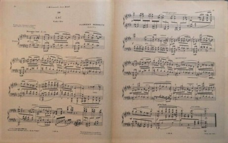 """Lac"" from Book II of Florent Schmitt's Musiques intimes"