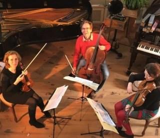 Prisma String Trio recording session July 2020