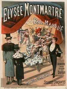 Elysee Montmartre theatre poster