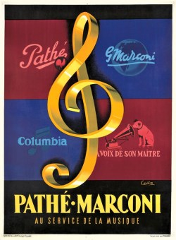 Pathe-Marconi promotional poster 1950