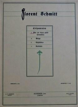 Florent Schmitt Crepuscules score cover