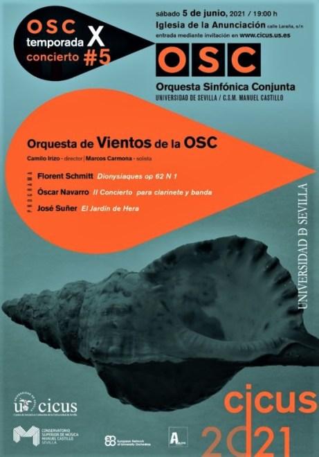 ORquesta de Vientos de l OSC 2-6-21 concert poster