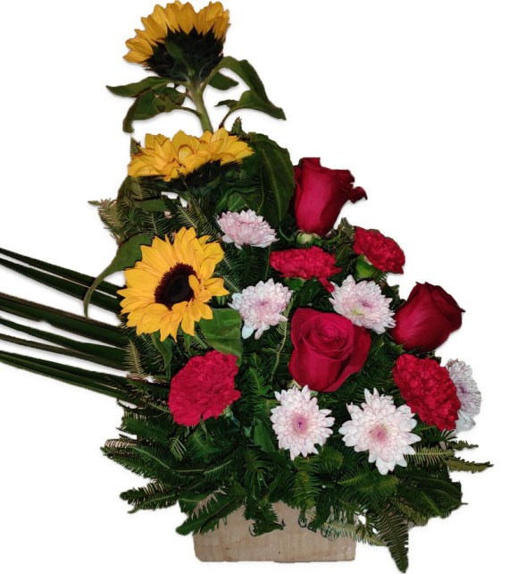 Arreglo Floral Rojo Girasol