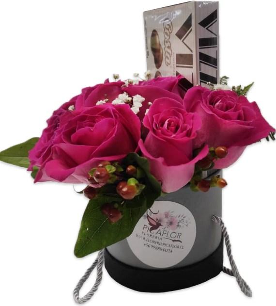 Caja de flores agata