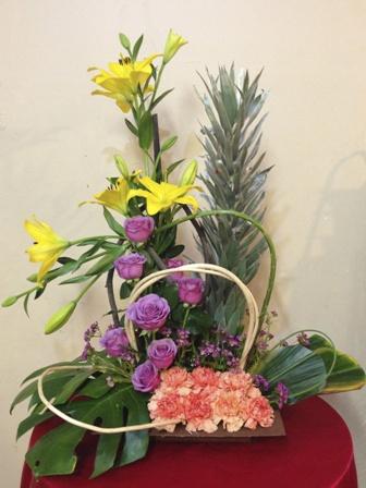 Arreglo Floral para Aniversario, con alcatraces y rosas - AN1