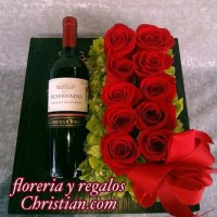Arreglo para Hombre con Vino - H2