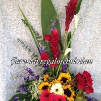 NU21 - Arreglo de flores ginger, aves del paraíso y girasoles. Envío en Tijuana.