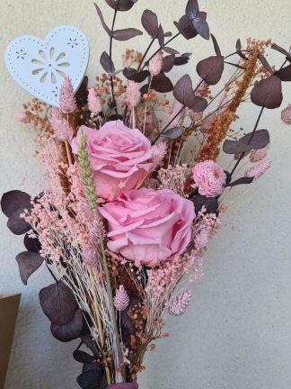 ramo rosas preservadas