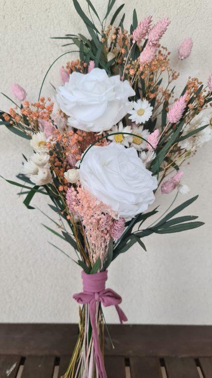 ramo rosas blancas preservadas