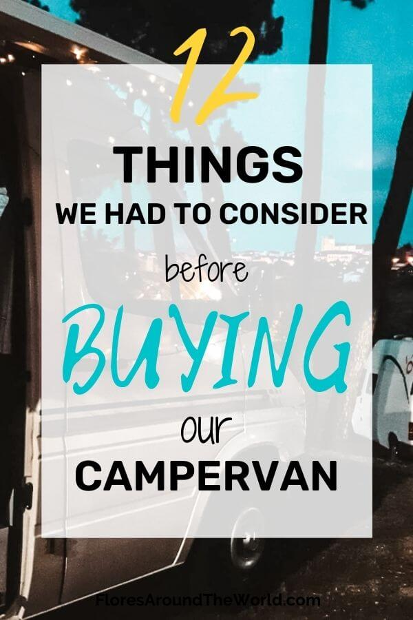 Things to Consider Before Buying a Camper Van