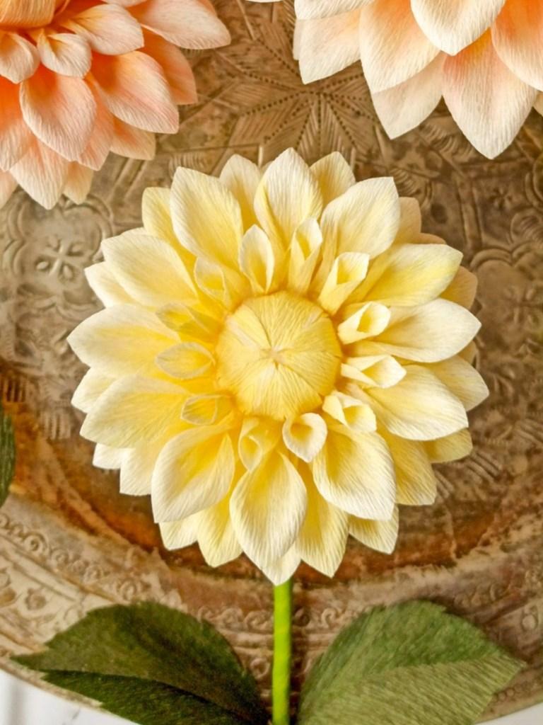 Flores de papel crepé, ramos de novia de papel, pedidos personalizados