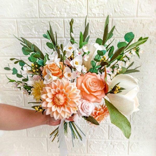 ramo de la boda de papel