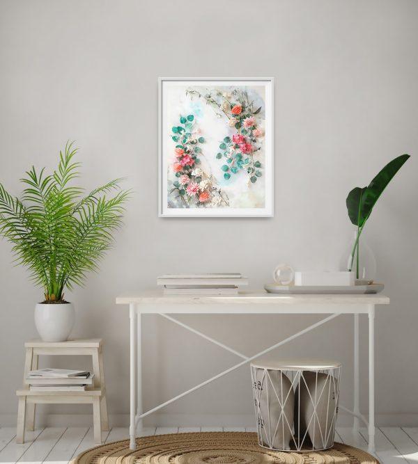 archivo digital floral descargable, flores para siempre, flores de papel crepe