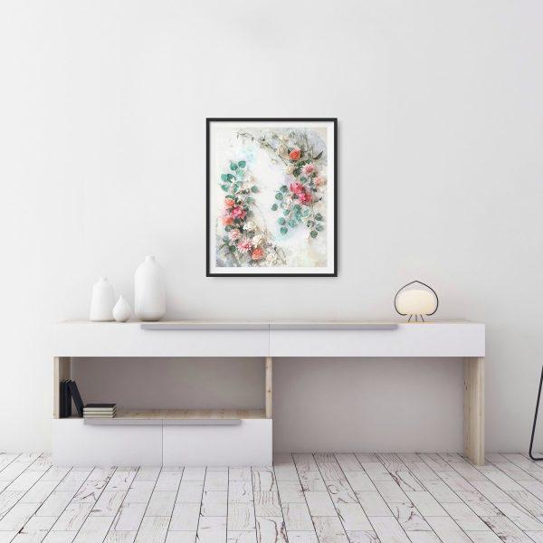 archivo digital floral estilo acuarela, flores para siempre, flores de papel crepé