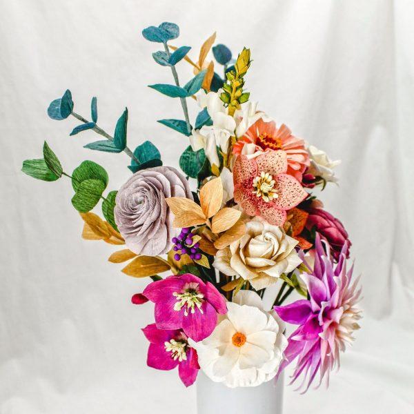 ramo-flores-papel-crepé-arreglo-floral-papel-centro-mesa-flores-para-siempre