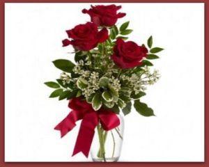 Ramo 3 rosas con jarrón