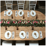 decoración floral mesa enlace matrimonial