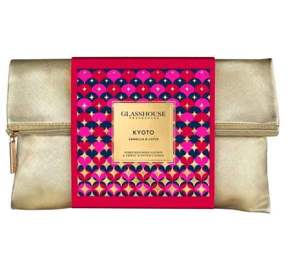 Beauty Products Kyoto Gold Bag Gift Set – Candle and Body Lotion
