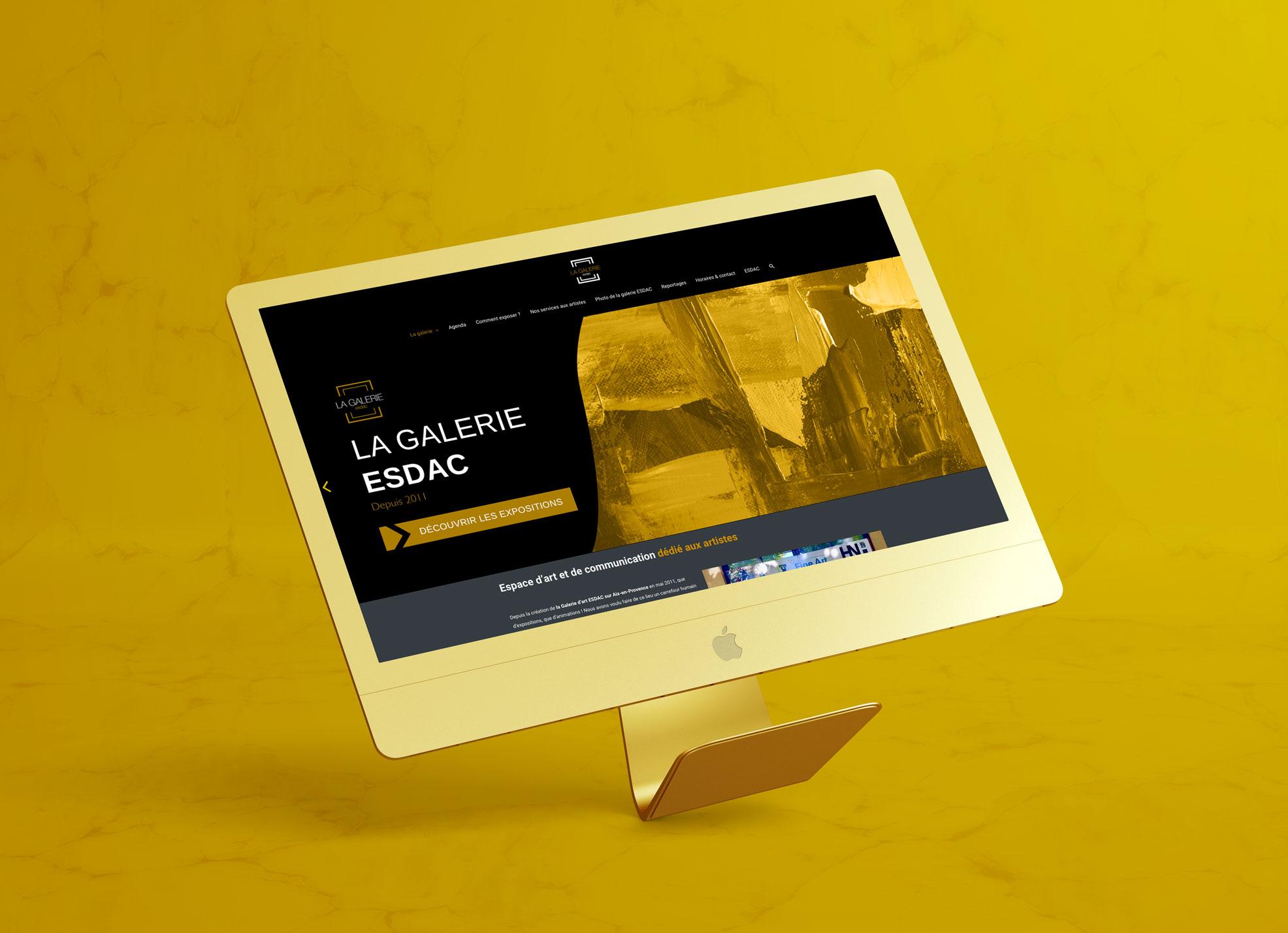 Site Internet de la galerie d'art ESDAC - Graphiste web designer aix-en-provence