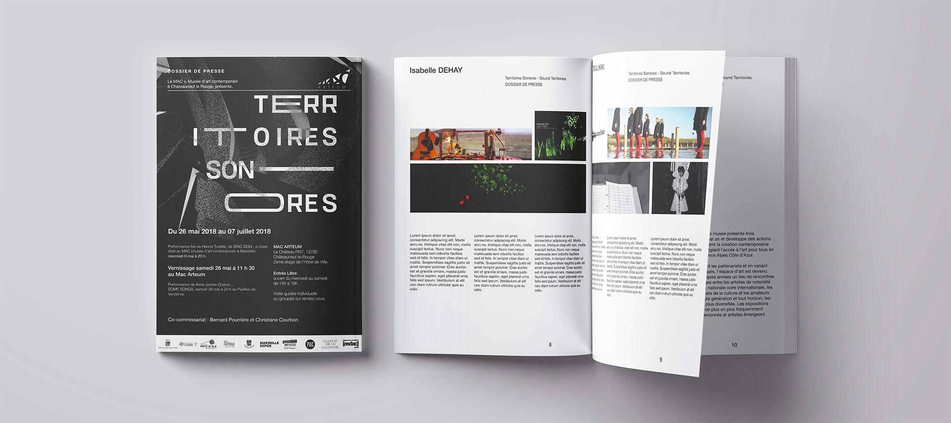 Dossier de presse du projet de publicité avec le mac arteum sur aix-en-provence