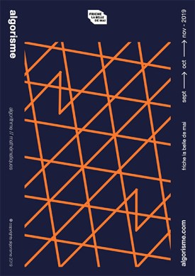Carte illustrative graphisme algorithmique