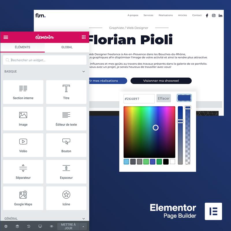 Le meilleur constructeur de page WordPress : Elementor