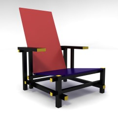 Red Blue Chair Best Portable High And Arm Inspired By Gerrit Rietveld