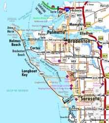 florida map maps bradenton sarasota street cities town cocoa coast space merritt island towns titusville interactive