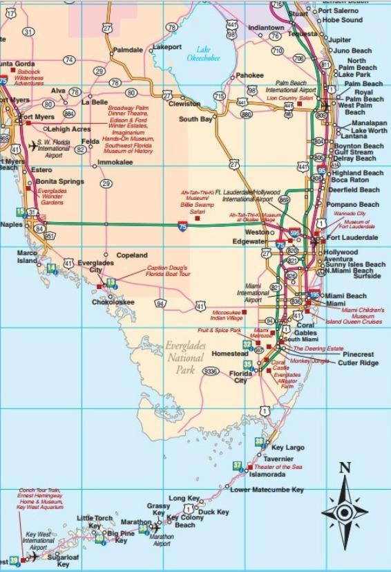 North Central Florida Map : north, central, florida, Florida, Statewide,, Regional,, Interactive,, Printable