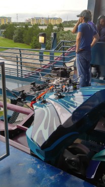 The On-Ride Video Capture rig for Mako during the Media Day event
