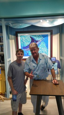 Michael Christopher was able to meet Guy Harvey at the Sea World Media Day for Mako