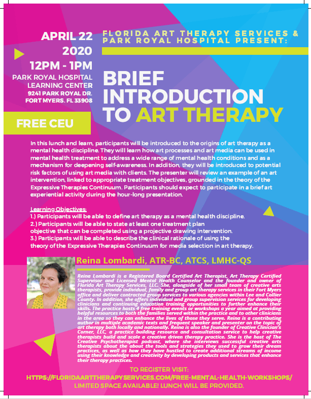 Brief Intro to Art Therapy Continuing Education Event