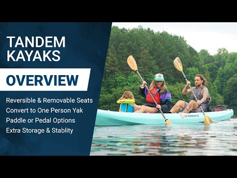 Two-Person Tandem Kayak Options: Crescent Crew & Hobie Mirage Compass Duo