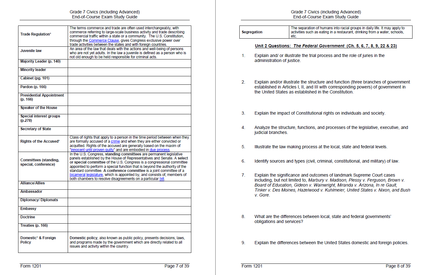 Constitution Questions Worksheet Answers