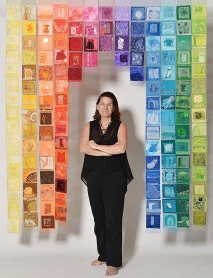 Marlene Glickman Fabric Collage