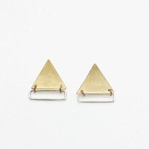 Megan Hart Twiggy Earring Brass