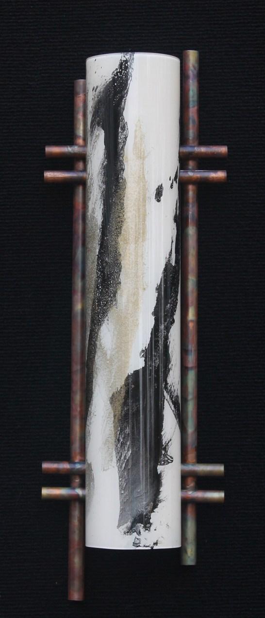 Terry Andrews Zen Light sculpture black ivory gold