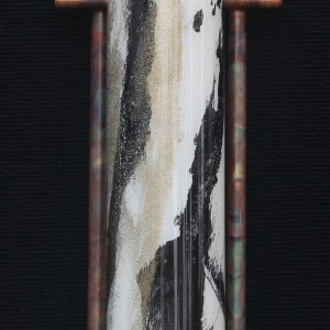 Terry Andrews Zen Light sculpture black ivory gold