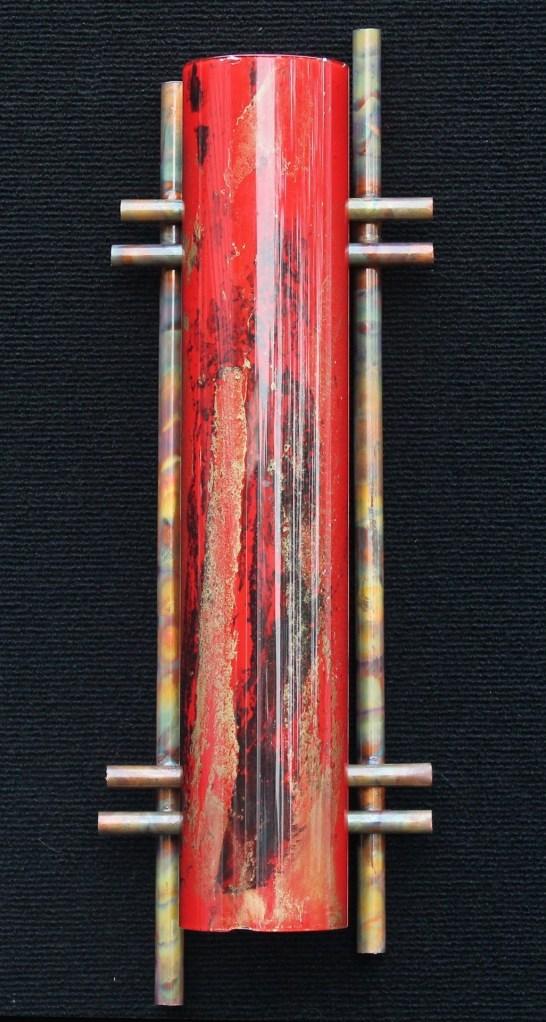 Terry Andrews Zen light sculpture red