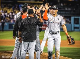 Giancarlo Stanton Lead Marlins Past Dodgers 10-6