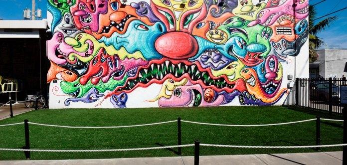 Kenny Scharf Mural and Garden at Wynwood Walls