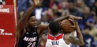 Beal Scores 30, Wizards Edge Heat 117-113 in Overtime