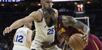 76ers Hold Off LeBron, Cavs 132-130 for 13th Straight Win